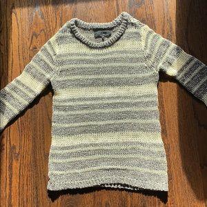 Rag & Bone Sweater Size 2 cream/grey stripe